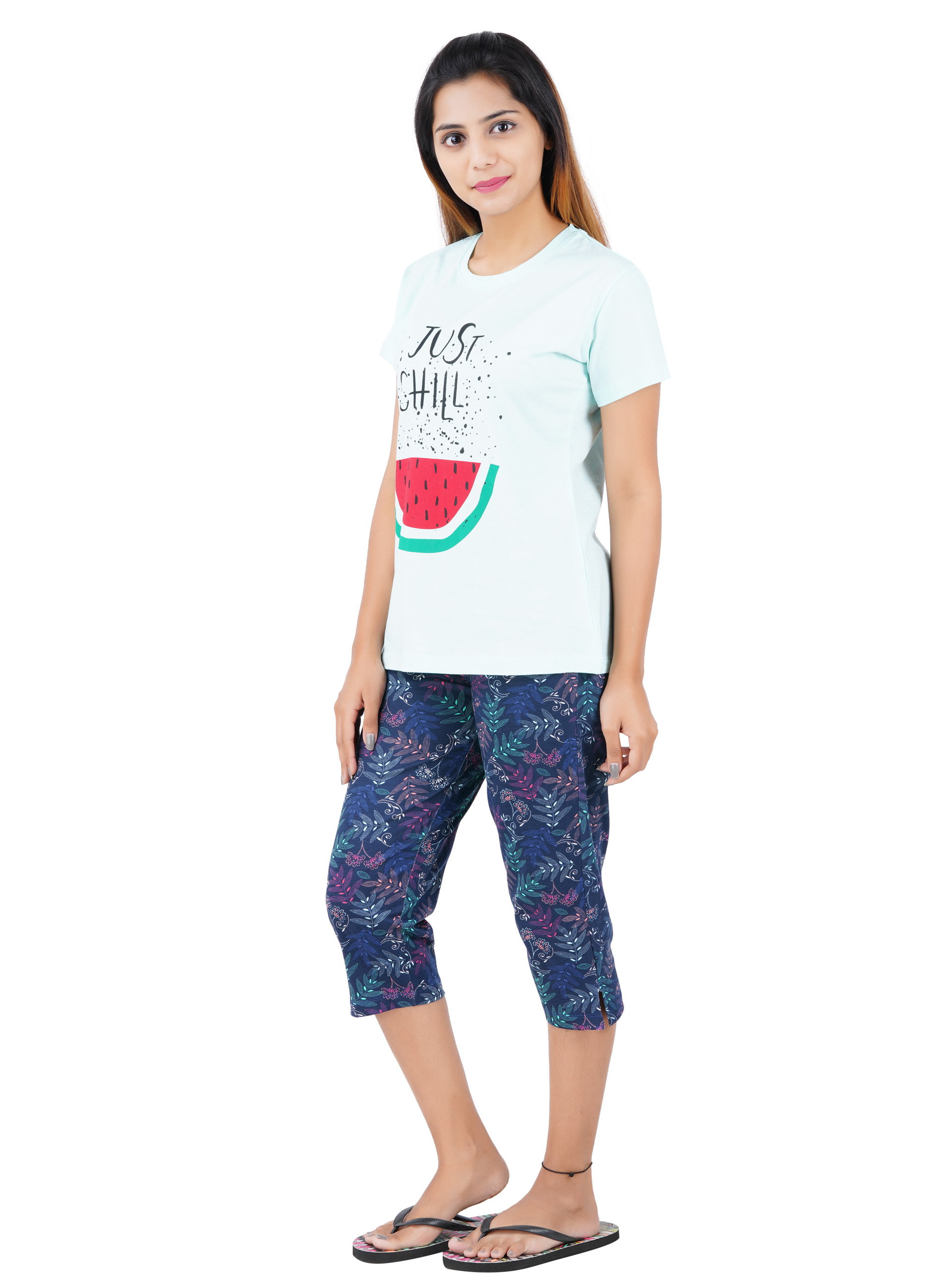 Aswati Watermelon 3/4 Full Set Capri - Just Chill